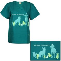 Welcome Diversity Scrub Top at The Animal Rescue Site