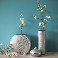 Vase ethnique en grès H 30 cm FLOWER