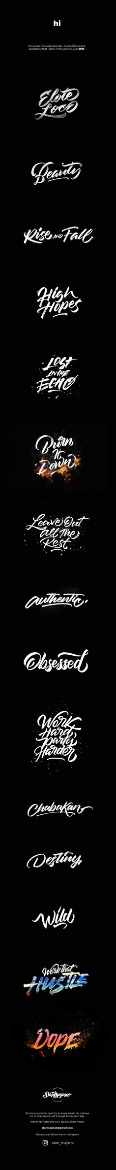 Calligraphy and Lettering 2017 on Behance