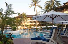 The Sanur Paradise Plaza Hotel is a four star international resort which commands a strategic location that is just minutes from great shopping and to the beach, as well as the cultural and natural attractions of Bali.  http://www.happyholiday.travel/hotel/sanur/sanur-paradise-plaza-hotel-2607