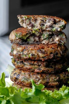 "Chunky Portobello Black Bean and Broccoli Burgers...for when I'm on one of my ""I'm not eating meat"" kicks"