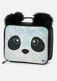 Shop our Sparkle Panda Wristlet. Justice Backpacks, Justice Clothing, Panda Love, Cute School Supplies, Lunch Tote, Cute Backpacks, Tween Girls, Girls Bags, Cute Bags