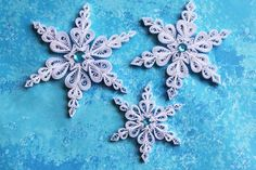 KETCHUM snowflakes  Paper quilled ornament  by OrnamentHouse