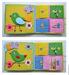 """Купить Книжка """"Котик"""" от 2 лет и """"на вырост"""" - развивающая книга, книга из ткани"""