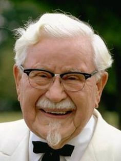 """This image is the founder of the restaurant chain """"Kentucky Fried Hikn"""" Colonel Sanders .... Which began with the idea and is at the age exceeds sixty-fifth The irony is that this man began in his pocket a check for $ 105 U.S. dollars only was social security.. Can you imagine for a moment that the 65-year-old man (which is the age at which to retire when most people are comfortable with it) restaurant chain begins swept by the world chickens """"Kentucky"""" to more than 92 countries in the…"""