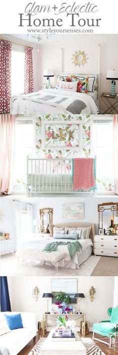 Home Tour, Colorful Home, Master Bedroom, Nursery