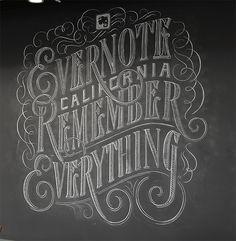 30 Inspirational Chalk Lettering Designs & Wall Murals | cloverdesain