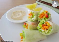Veggies Wrap!  A light lunch idea..