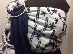 Licensed NFL Dallas Cowboys White With Solid by IndigosInMotion Ring Sling, Baby Sling, Nfl Dallas Cowboys, Baby Patterns, Indigo, Navy Blue, Marvel, Couture, Trending Outfits