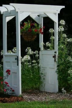 Door arbor - would love this for my garden.  But I want three doors.  The width of the arbor would be as wide as the third door so it could open into the garden.