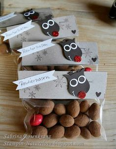 naturelove stin up weihnachtsgeschenke Candy Pictures, Christmas Crafts, Xmas, Christmas Stuff, Stampin Up Weihnachten, Diy And Crafts, Paper Crafts, Diy Presents, Silent Night