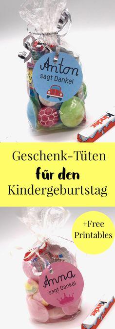 {Werbung} DIY Ideen Für Den Kindergeburtstag. Ideen Für Essen, Snacks Und  Geschenketüten Für Kinder. Alles Für Die Perfekten Gasttüten Geschenke Auf  Dem ...