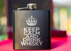 Personalized Flask Perfect Gift Set Keep Calm by RespectPrinting