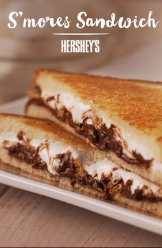 Turn the classic HERSHEY'S chocolate and marshmallow S'mores you know and love – into a sandwich.