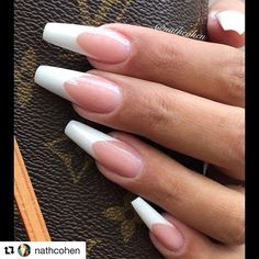 #Repost @nathcohen with @repostapp ・・・ Classic French by @nathcohen on lovely @tinaherdin #fashion #fashionnails #fashioninspo #red #maniq #youngnails #nude #pink #beige #white #pink #pinknails #purple #bag #french #classic #nails #glitter #nailinspo #red #diamond #rose #hudabeauty #french #brush #makeup #cover #purple