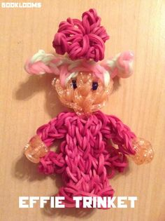 By Maria Rue Fitz. Rainbow Loom EFFIE TRINKET from The Hunger Games.