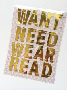 Gift Giving Manifesto | Want.Need.Wear.Read.* by SuzMannecke at @Studio_Calico - we started this a couple years ago with the boys and love gift giving this way!