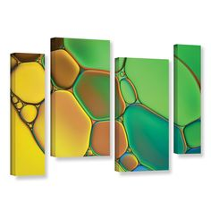 Stained Glass III by Cora Niele 4 Piece Graphic Art on Wrapped Canvas Set