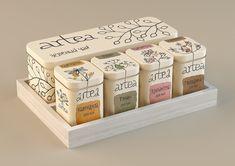 Artea | Tea package by Masha Ponomareva, via Behance