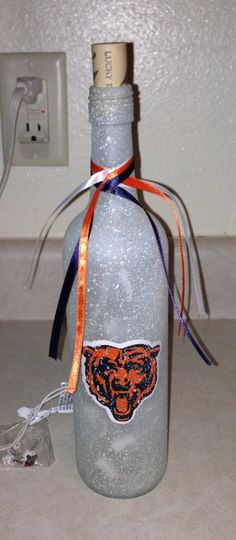 NFL Lighted Bottle  Chicago Bears by ALittleBitCorkie on Etsy, $20.00