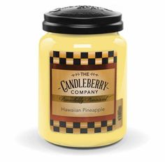 Yankee Candles, Scented Candles, Candle Jars, Hawaiian, Pineapple, Fragrance, Fruit, Sweet