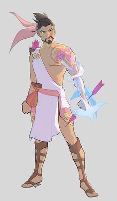 Valentines skin concept: Cupid Hanzo