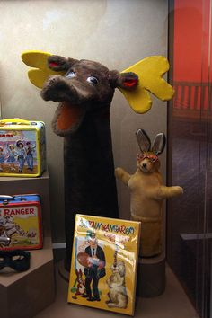 Mister Moose and Bunny Rabbit from Captain Kangaroo now call the Smithsonian Museum of American History home.