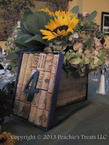 Wine Cork Table Number