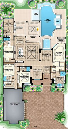Dream house plans house plan coastal plan square feet 4 bedrooms my vision board house plans House Layout Plans, New House Plans, Dream House Plans, House Layouts, House Floor Plans, Dream Houses, Florida House Plans, Coastal House Plans, Dream House Interior