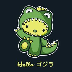 Hello Kaiju By Fishbiscuit Get Free Worldwide Shipping This Neat Design Is Available On Comfy T Shirt Including Oversized Shirts Up To Las Fit And