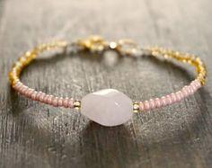 Pink Opal Wrap Boho bracelet Wrap bracelet Gemstone wrap bracelet Beaded wrap bracelet Boho jewelry Beaded bracelet Valentines gift for her Labradorite Healing Properties, Pink Opal, Gemstone Bracelets, Bracelet Designs, Pink And Gold, Gemstones, Jewelry, Jewlery, Bijoux