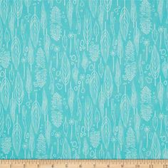 Michael Miller Wee Wander Nature Walk Turquoise from @fabricdotcom  Designed by Sarah Jane for Michael Miller, this cotton print is perfect for quilting, apparel and home decor accents.  Colors include aqua and white.