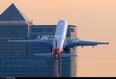 Embraer ERJ-190LR Aeroplane Flight, Airports, London City, Airplanes, Transportation, Aviation, Past, Aircraft, Military