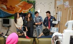 TWILIGHT stars Peter Facinelli, Elizabeth Reaser, Jackson Rathbone and Nikki Reed present patients at the LA Children's Hospital with a special screening of THE TWILIGHT SAGA: BREAKING DAWN - PART 2 on DVD.