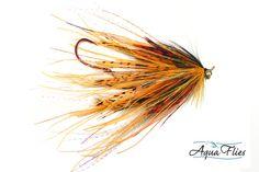 Aqua Flies Mini Intruder Steelhead - 4 Rhea Intruders Golden Orange - Set of 4 Steelhead Fly Fishing Flies