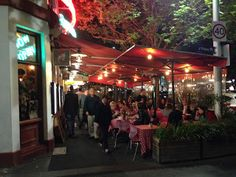 Destination tips at Running Routes: Lygon Street restaurants in Melbourne, Australia for the best evening atmosphere
