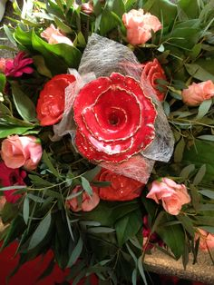 keramiek bloemen, ceramic roses