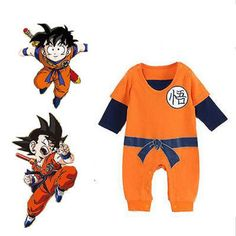 Spring Baby Boy Goku Kong Fu Costume Infant Long Short Sleeve Cartoon Romper Dragon Ball Clothes Halloween Birthday Gift //Price: $US $7.05 & FREE Shipping //     #woman