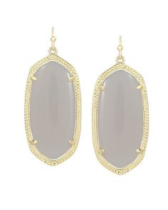 Elle Earrings in Slate - Kendra Scott Jewelry. Take 15% off ivory, slate and white jewels tonight ONLY w/code YAYNEUTRALS at checkout from 5pm CST - midnight!