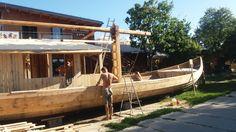 Budowa drewnianej szkuty na Bindudze Wiślanej. fot. Aleksandra Mysiorska