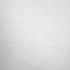 """Medallion Panel by Kelly Hoppen: Wallpaper found at Graham & Brown (""""...can be used on a full wall, under or over picture rails and even look great on the ceiling, they can be left white, painted or even varnished – perfect for hallways and high traffic areas"""")"""