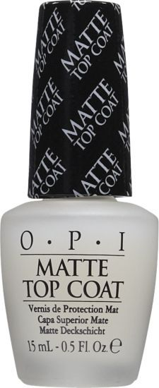 OPI - Matte Top Coat. Used it over a light pink and my nails look like strawberry milk <3