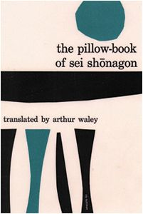The Pillow-Book of Sei Shonagon. Grove Press. Cover by Roy Kuhlman. I could not determine the date. This is early, probably mid-1950s, when he was signing the covers. You can make out his name in the bottom right. www.roykuhlman.com