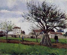 Pommiers à Pontoise - Camille Pissarro