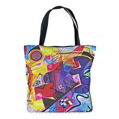 6fa4a30a2c22 Free Shipping on our Kandinsky Art Tote Bags featuring the famous yellow