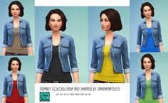 Mod The Sims - Denim jacket with 7 sweaters