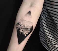 Mountain Tattoo on Pinterest | Mountain Tattoos, Landscape Tattoo and ...