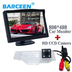 """Special camera for Mazda 3 bring colorful night vision and glass lens material car rear camera with high-quality 5""""car monitor"""
