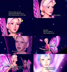 This is my favorite part of Barbie Mariposa. While not one of the major movies of the Barbie series, it does teach a really valuable lesson. That sometimes its better to be yourself than worry about fitting in.
