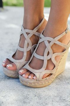 ~~~SUMMER FIX SHOES! Love the wedges for spring and summer dresses. Order today and get great shoes with clothes to match sent right to your front door. #affilatelink